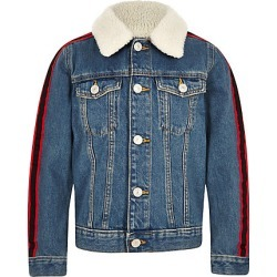 Boys Blue borg tape side denim jacket found on MODAPINS from River Island - UK for USD $44.29