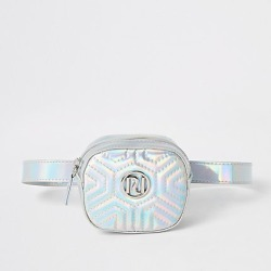 River Island Girls silver holographic RI quilted bum bag found on MODAPINS from RIver Island US for USD $24.00