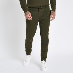 Mens Dark Green slim fit joggers found on MODAPINS from River Island - UK for USD $28.73
