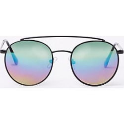 Boys Black round rainbow tinted sunglasses found on MODAPINS from River Island - UK for USD $10.12