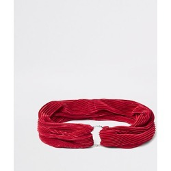 Womens Red pleated diamante pave circle headband found on MODAPINS from River Island - UK for USD $12.65