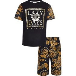 Boys Black baroque pjyama set found on MODAPINS from River Island - UK for USD $20.90