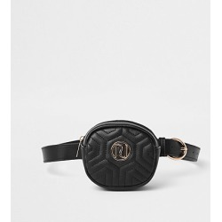 River Island Girls black RI quilted bum bag found on MODAPINS from RIver Island US for USD $24.00