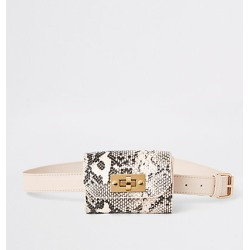 River Island Girls beige snake print bum bag found on MODAPINS from RIver Island US for USD $24.00