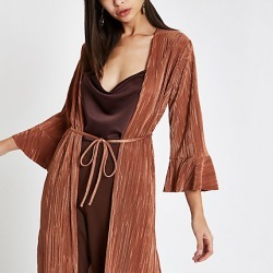 Womens Pink plisse kimono duster jacket found on MODAPINS from River Island - UK for USD $58.77