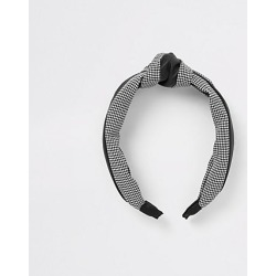 Womens Black gingham print headband found on MODAPINS from River Island - UK for USD $10.12