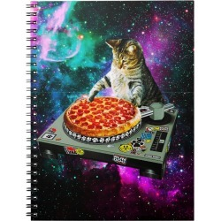 Space dj cat pizza Notebook found on Bargain Bro Philippines from Zazzle for $13.70