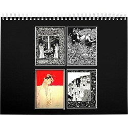 Calendar-Vintage Illustration-Aubrey Beardsley Calendar