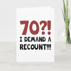 70th Birthday Gag Gift Card found on Bargain Bro Philippines from Zazzle for $6.05