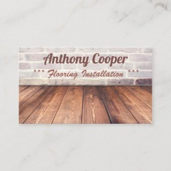Personalized flooring photo Business Card found on Bargain Bro Philippines from Zazzle for $23.40