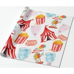 Cute Circus Carnival Kids Party Wrapping paper found on Bargain Bro Philippines from Zazzle for $22.65