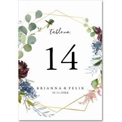 Burgundy Gold Geometric Wedding Table Number found on Bargain Bro Philippines from Zazzle for $1.15