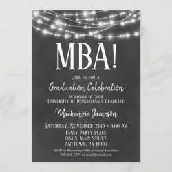 MBA Business Admin Graduation Party Invitation found on Bargain Bro Philippines from Zazzle for $2.66