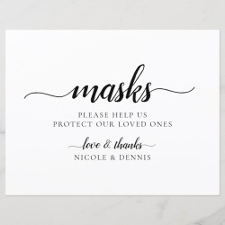 Take a Mask Sign for Events found on Bargain Bro Philippines from Zazzle for $1.49