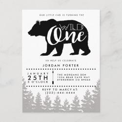 Rustic Mama Bear Baby Shower Invitation Postcard
