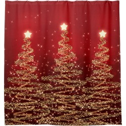 Elegant Christmas Sparkling Trees Red Shower Curtain found on Bargain Bro Philippines from Zazzle for $71.19