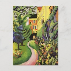 Our Garden by August Macke Postcard found on Bargain Bro Philippines from Zazzle for $1.20