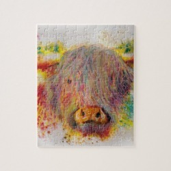 Highland Cow Jigsaw Puzzle found on Bargain Bro Philippines from Zazzle for $17.90
