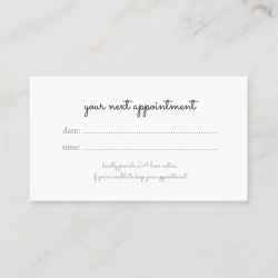 cursive handwriting your next appointment found on Bargain Bro Philippines from Zazzle for $24.90