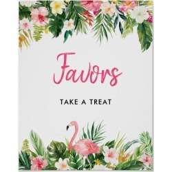 Luau Flamingo Tropical Party Favor Sign found on Bargain Bro Philippines from Zazzle for $10.55