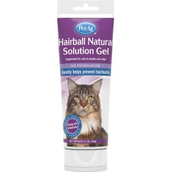 PetAg Hairball Natural Solution Gel for Cats (3.5 oz)