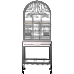 Opening Dome Top Bird Cage - Platinum (22