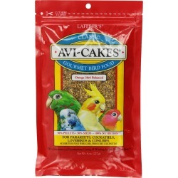 Lafeber's Avi-Cakes Gourmet Bird Food for Parakeets, Cockatiels, LoveBirds & Conures (8 oz)