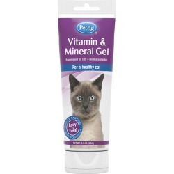 PetAg Vitamin & Mineral Gel for Cats (3.5 oz)