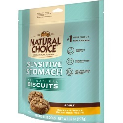 Nutro Natural Choice Sensitive Stomach Chicken & Whole Brown Rice Biscuit - Adult Dog (32 oz)