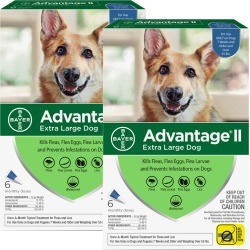 12 MONTH Advantage II Flea Control for Extra Large Dogs (Over 55 lbs)