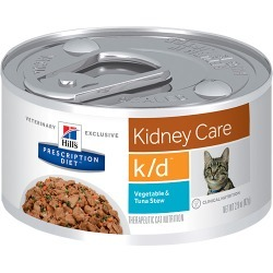 Hill's Prescription Diet k/d Feline Kidney Care Veg, Tuna & Rice Stew (24x2.9oz)