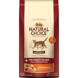 Nutro Natural Choice Chicken & Whole Brown Rice - Finicky Adult Cat (6.5 lb)