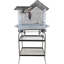 House Top Bird Cage with Stand - 27