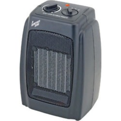 Comfort Zone Ceramic Electric Portable Fan-Forced Heater - Black