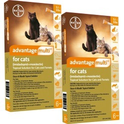 Advantage Multi for Cats - 5.1-9 lbs (12 Months)