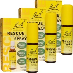 3-PACK Bach Rescue Remedy - Natural Stress Reliever Spray (60 mL)