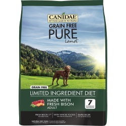Canidae Grain Free Pure Land Adult Dry Dog Food - Bison (24 lb)