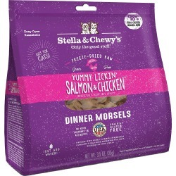 Stella & Chewy's Freeze-Dried Yummy Lickin' Salmon & Chicken Dinner for Cats 3.5 oz.