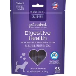 Get Naked Digestive Health Dental Sticks Treats for Dogs Small (6.2 oz)
