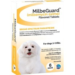 MilbeGuard Flavored Tablets for Dogs 2-10 lbs - Yellow (6-Pack)