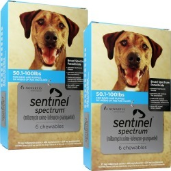 Sentinel Spectrum for Dogs 50.1-100 lbs (12 Chews) found on Bargain Bro India from entirelypetspharmacy.com for $155.72