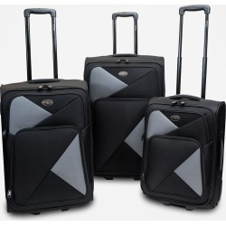 STTELLI Fragmento 3-Piece Luggage Set - Black