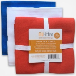MÜkitchen Flour Sack Towels, Set of 3 - Patriot found on Bargain Bro India from zola.com for $11.99