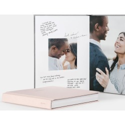 Artifact Uprising Wedding Guest Book found on Bargain Bro India from zola.com for $259.00