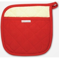 MÜkitchen Quilted Potholder - Crimson found on Bargain Bro India from zola.com for $7.99