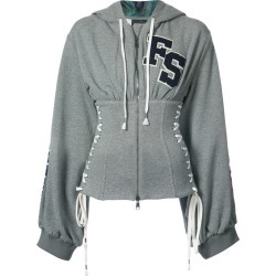 Grey Corset Zipped Hoodie found on MODAPINS from shop bazaar for USD $1500.00