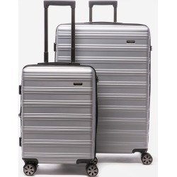 CALPAK Cyprus 2-Piece Luggage Set - Silver