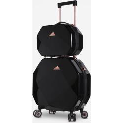 Traveler's Club Kensie Octagon 2-Piece Hardside Luggage Set - Black