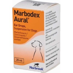 Marbodex Aural Ear Drops For Dogs 20ml found on Bargain Bro UK from Pet Drugs Online