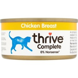 Thrive Complete Cat Food Chicken 12 x 75g Tins found on Bargain Bro UK from Pet Drugs Online
